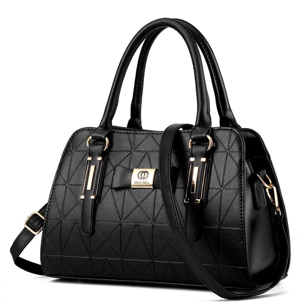 Donalworld Women Casual Bow Plaited Korean Manmade Leather Handbag Pt1