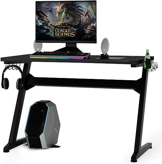 COSTWAY Mesa para Gaming Escritorio para Juegos Computadora Gamer ...