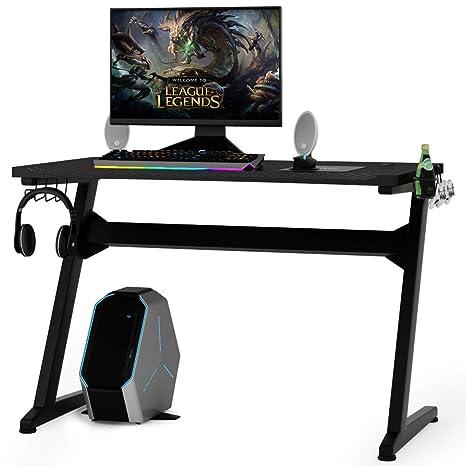 COSTWAY Mesa para Gaming Escritorio para Juegos Computadora ...