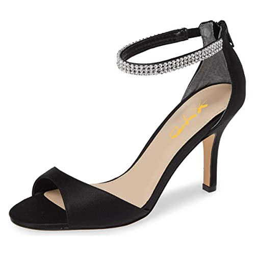 f8a3631975 Amazon.com | XYD Women Open Toe Rhinestones Ankle Strap Thin High ...