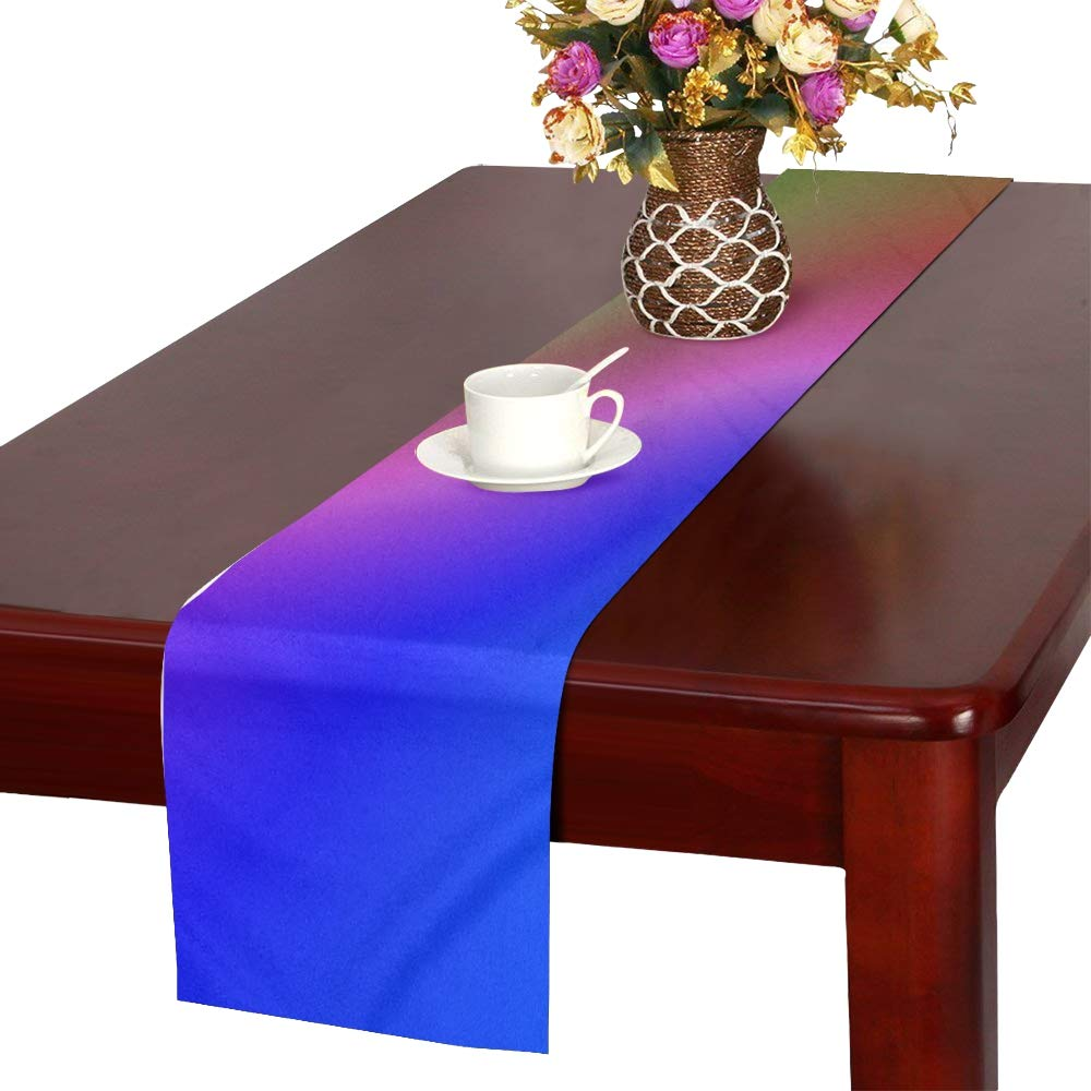 Course Pattern Colorful Color Abstract Wave Table Runner, Kitchen Dining Table Runner 16 X 72 Inch For Dinner Parties, Events, Decor