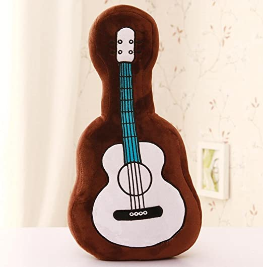 Forma de guitarra de dibujos animados almohada felpa sofá cojín ...