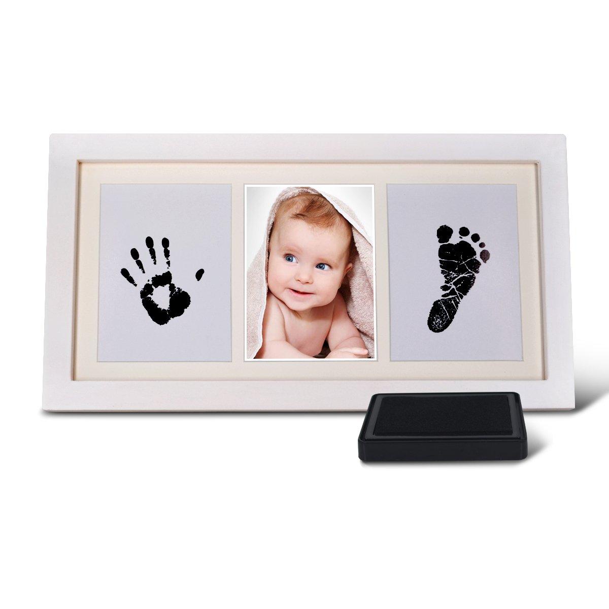 Bilderrahmen Geschenke für Baby,Haice Baby Handabdruck und ...