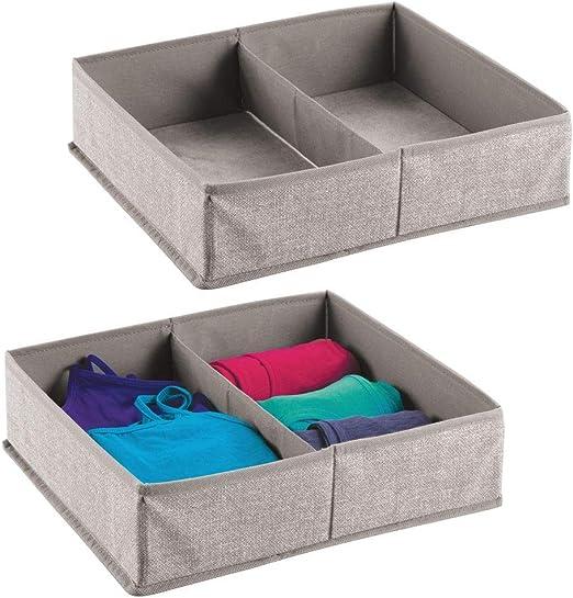 mDesign Juego de 2 caja para armario o cajón – Ideal como caja ...