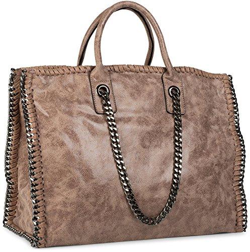 Shopper Tote Avec Sac Rock Vintage Femmes Chaîne 02012057 Stylebreaker Style Antique kaki Besace Couleur Kaki Sac Bag H5nqf8wxt