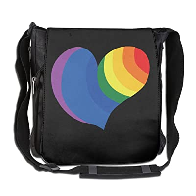 Rainbow Love Heart Gay Fashion Outdoor Lightweight Backpack Single Shoulder Crossbody Bags For Men & Women