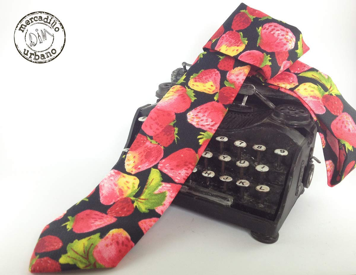 Corbata Retro Vintage Fresas para niños, niñas, jóvenes y adultos ...