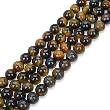 Pcs Gemstones Jewellery Making Crafts Tiger Eye Round Beads 8mm Red//Brown 44