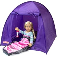 Sophia's Coleman Set for Dolls: Camping Tent, Sleeping Bag & Lantern | Coleman Camping Accessories w/ Pink Light Up…