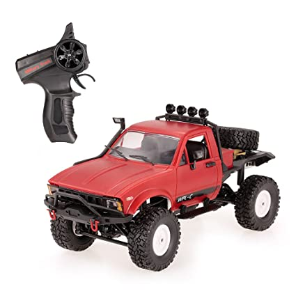 Goolsky WPL C14 1/16 2.4GHz 4WD RC Crawler Off-Road Semi-truck Car con faro RTR