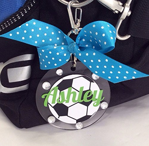 Soccer Bag Tag Personalized with Your Name and Your Colors