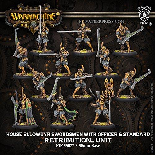 Warmachine Retribution: House Ellowuyr Swordsmen with Officer and Standard