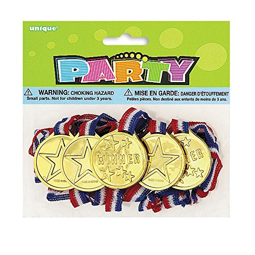 Gold Medal Party Favors, 5ct (Halloween Costume Winners)