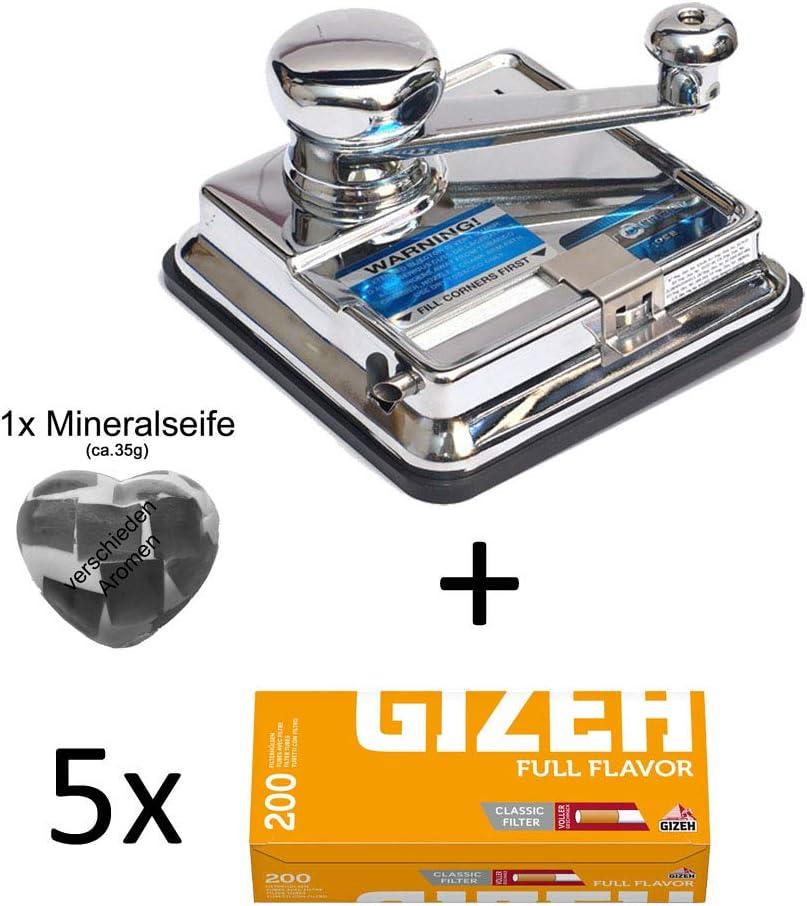 OCB® MikrOmatic Duo (máquina de Rellenar) + 1000 (5x200) Gizeh Full Flavor (Fundas de Cigarrillos) + 1 jabón.: Amazon.es: Hogar