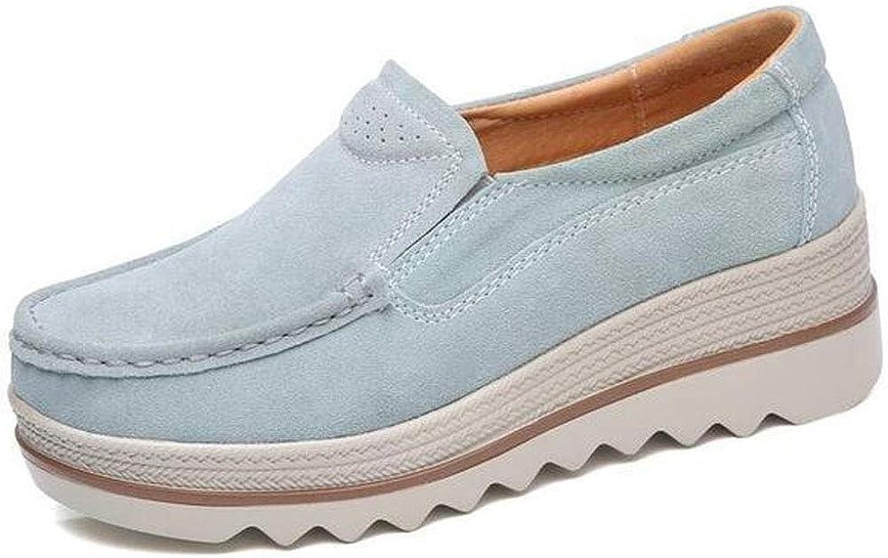 Offres Femmes Confortable Slip-On Plate-forme Chaussures Femmes Plate-forme Glisser Sur Mocassins Confort Wedge Chaussures