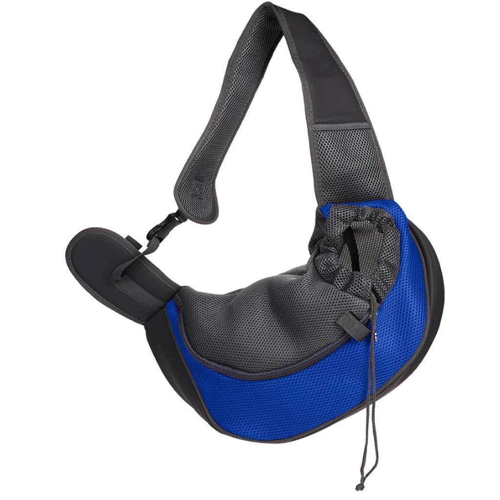 Dark bluee LargeBLRYP Pet Backpack Dog Cat Pet Sling Carrier, Travel Puppy Shoulder Bags Walking,Travel,Hiking,Camping (color   C, Size   S)