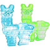 Tirdkid 2 Pack Llama Pop it Push Bubble Fidget Toy, Alpaca Stress Anxiety Restless Reliever Decompression Squeeze Toy for Str