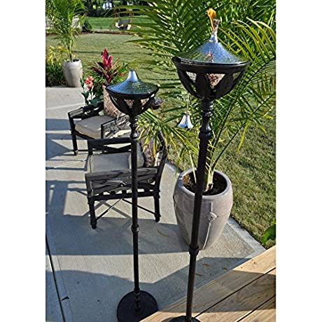 Starlite Garden And Patio Torche AKEX FS 2300BLK Torch Set Of 2 61 Black Stainless Steel