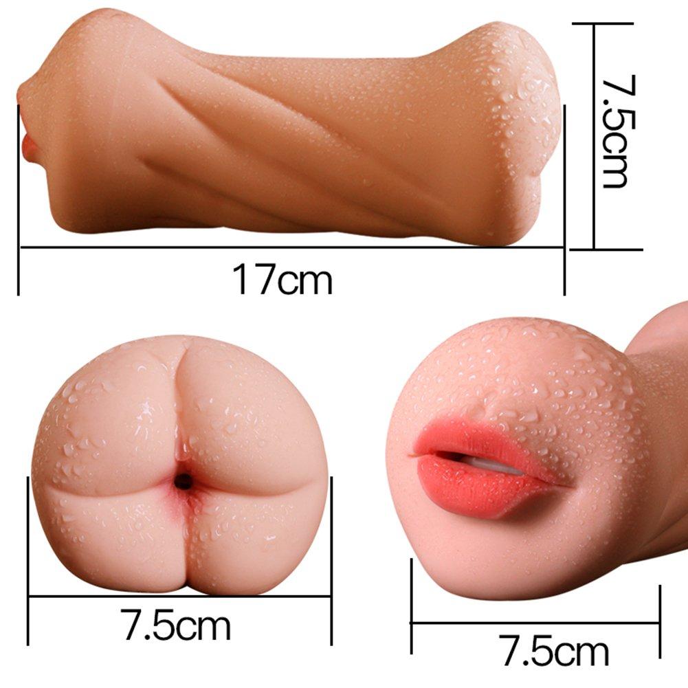M-ale Masturbación C-up, Masturbadores masculinos masculinos masculinos S-ex T-oys 3D Realista vagina y Masturbador de boca con dientes y lengua M-asturbation C-up 3b0e66