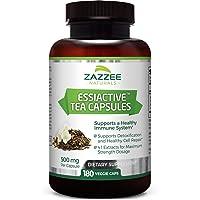 Zazzee Essiac Tea, 180 Veggie Capsules, 500 mg per Capsule, Potent 4:1 Extract,...