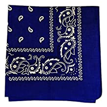 Bandana - Classic Paisley Headscarf - (Single Piece) - Bandanas