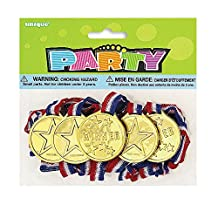 Gold Medal Party Favors, 5ct