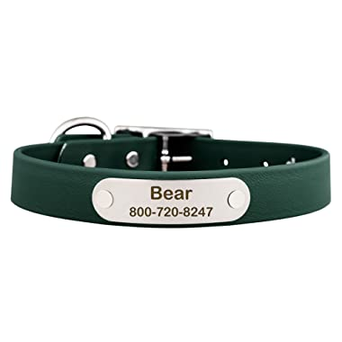 dogIDS Waterproof Soft Grip Dog Collar with Built in Laser Engraved Nameplate - 9 Color Options