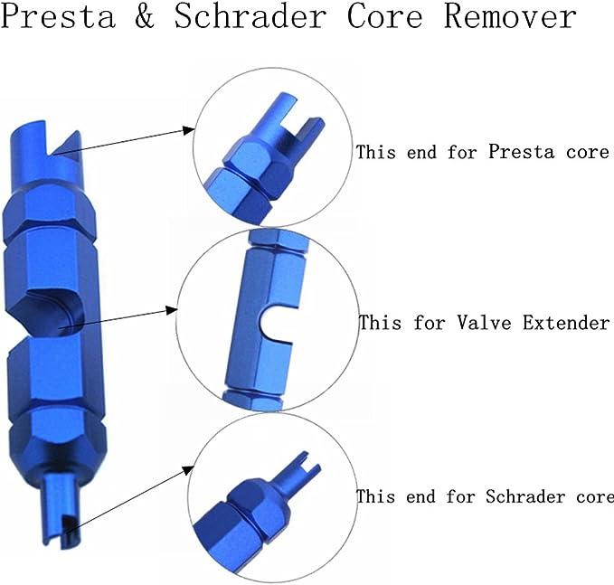 Bike Bicycle Schrader Presta Valve Core Installation Removal Presta Ext rxWP5