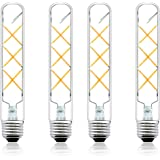 Luxvista E26 Medium Base Tubular Light Bulb 60 Watt T10 Incandescent Bulb Equivalent, 6 Watt