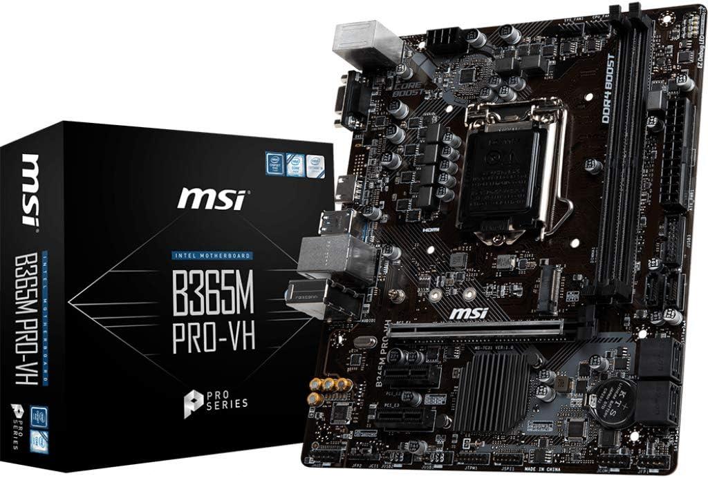 MSI B365M Pro-VH - Placa Base (Intel, LGA 1151 (Zócalo H4), Intel® Celeron®, Intel® Core™ i3, Intel Core i5, Intel Core i7, Intel Core i9, Intel® Pentium®, DDR4-SDRAM, DIMM, 2133,2400,2666 MHz)