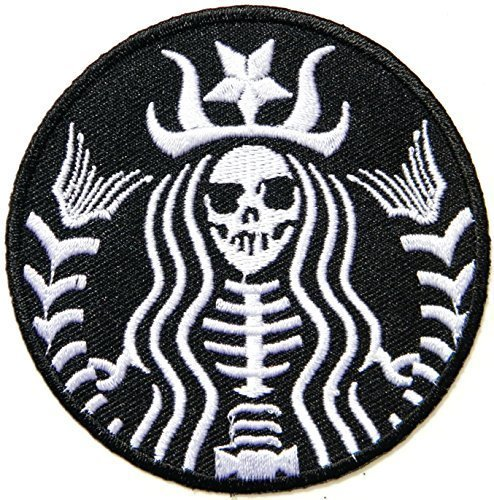 STARBUCKS Coffee Zombie Logo Symbol Jacket T-shirt Patch Sew Iron on Embroidered Sign Badge Costume Clothing