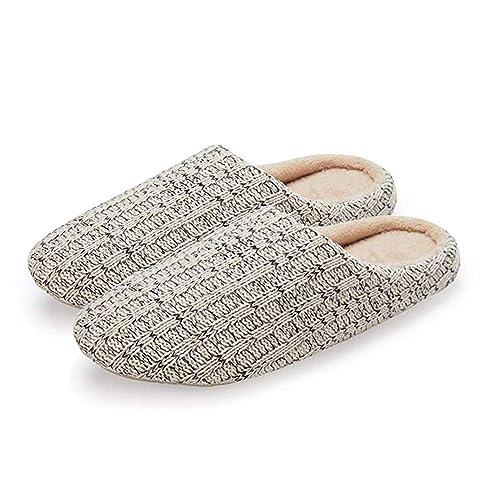 Zapatillas de Estar por casa Hombre Interior Slippers Pantuflas Unisex Tejido de Punto: Amazon.es: Zapatos y complementos