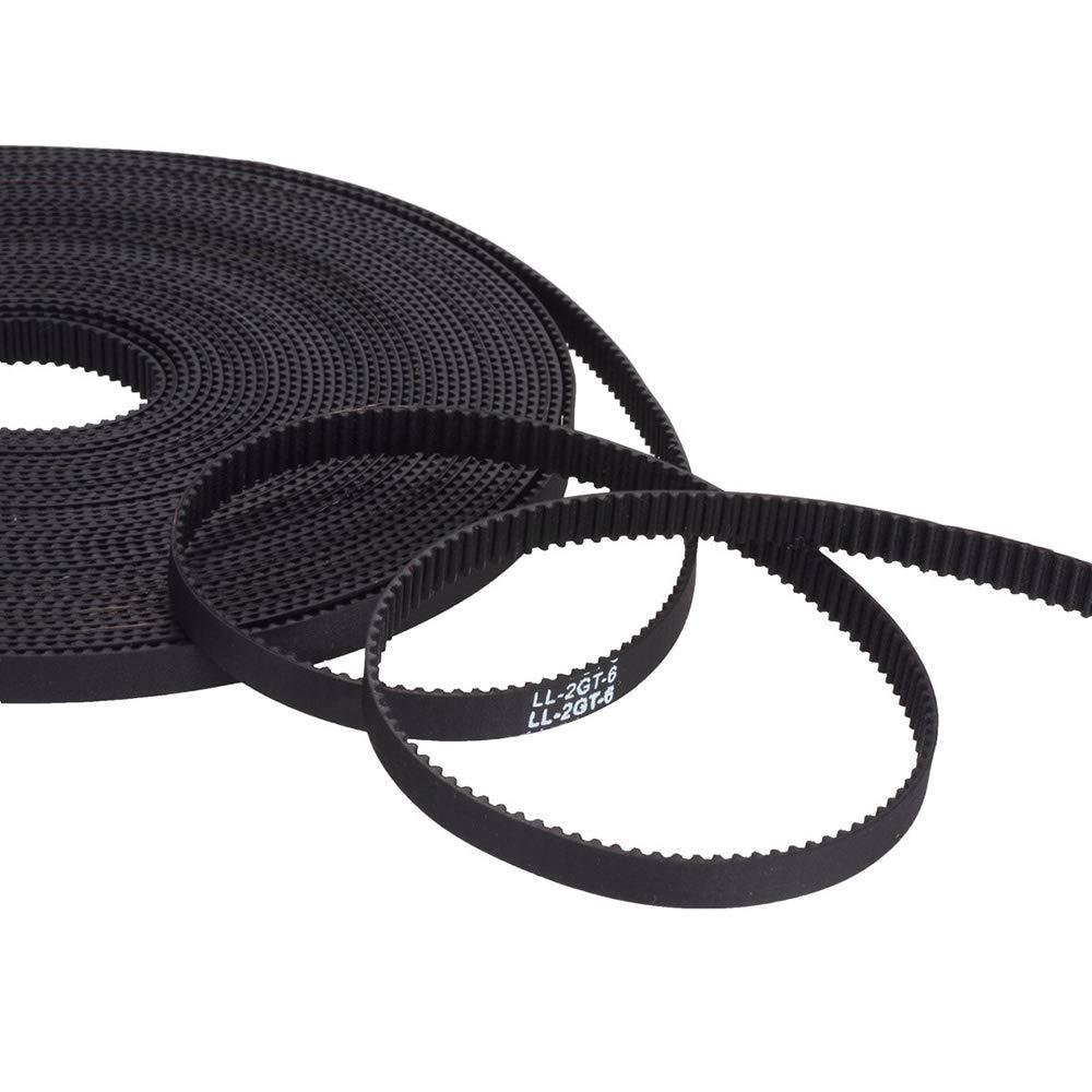 Correa De Impresora 3D, Abierta La Longitud De La Correa De Distribución GT2 5 m (16.4 pies) 2 mm Ancho De 6 mm Ancho, Adecuado Para Impresoras 3D