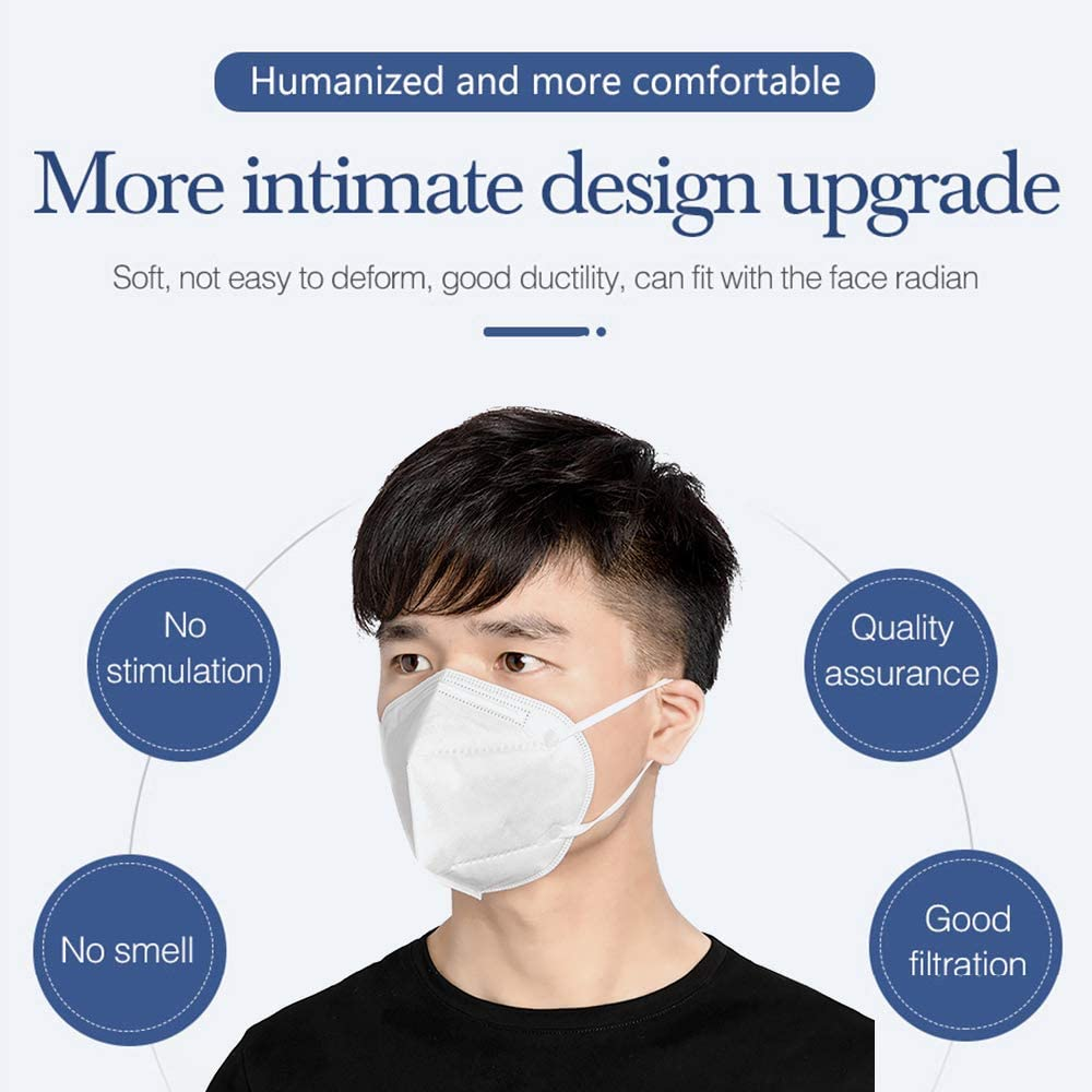 1 St/ück MundSchutz Staubdichte 3-lagig Anti PM2.5 Lungenentz/ündung Grippeschutz