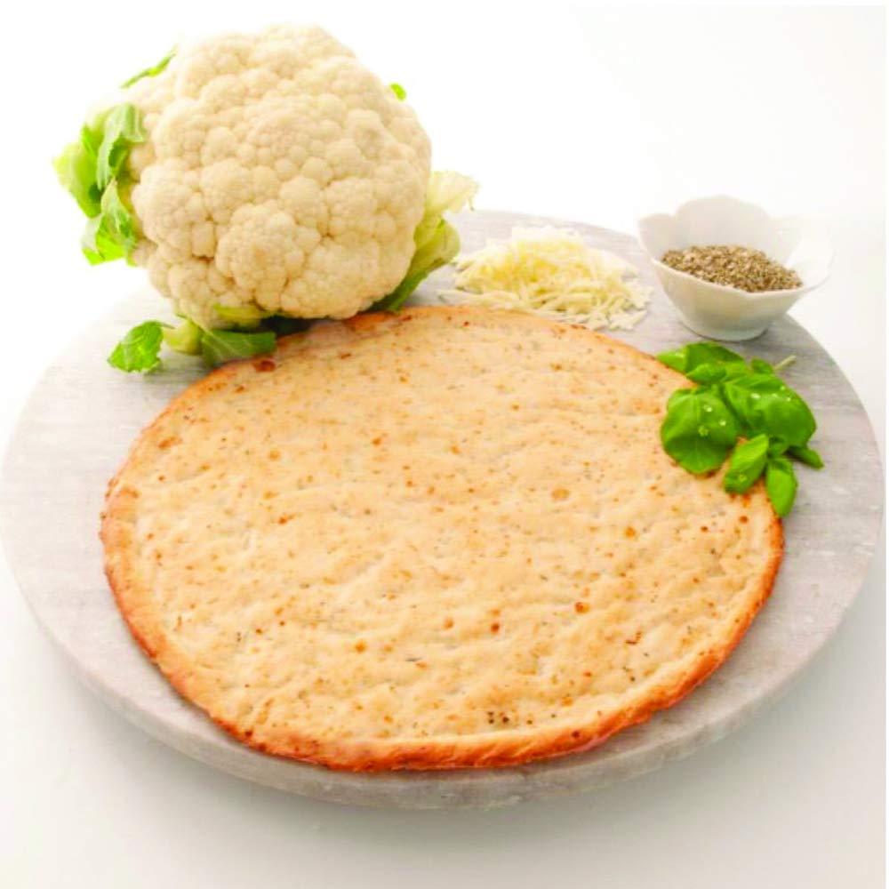 Edgy Veggie Seasoned Cauliflower Gluten Free Thin Pizza Crust, Non GMO, 10'', 12 Pack by The Edgy Veggie