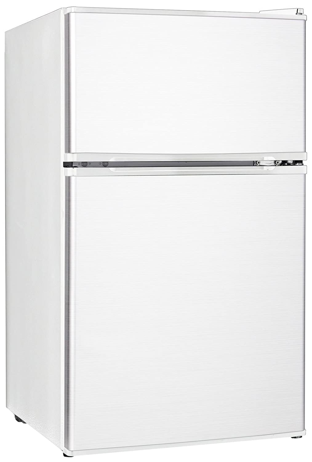 Midea WHD-113FW1 Compact Reversible Double Door Refrigerator and Freezer, 3.1 Cubic Feet, White