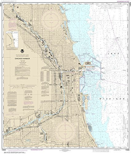 MapHouse NOAA Chart 14928 Chicago Harbor: 40.43