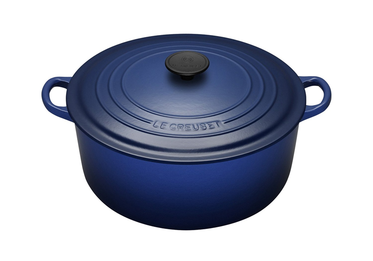 Le Creuset Enameled Cast-Iron 3-1/2-Quart Round French Oven, Cobalt Blue
