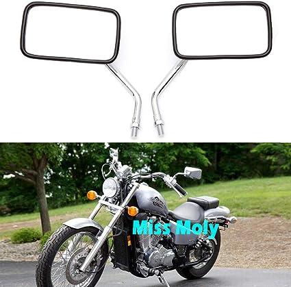 Moto Miroir Extension Chrome 10mm Filetage à droite Paire