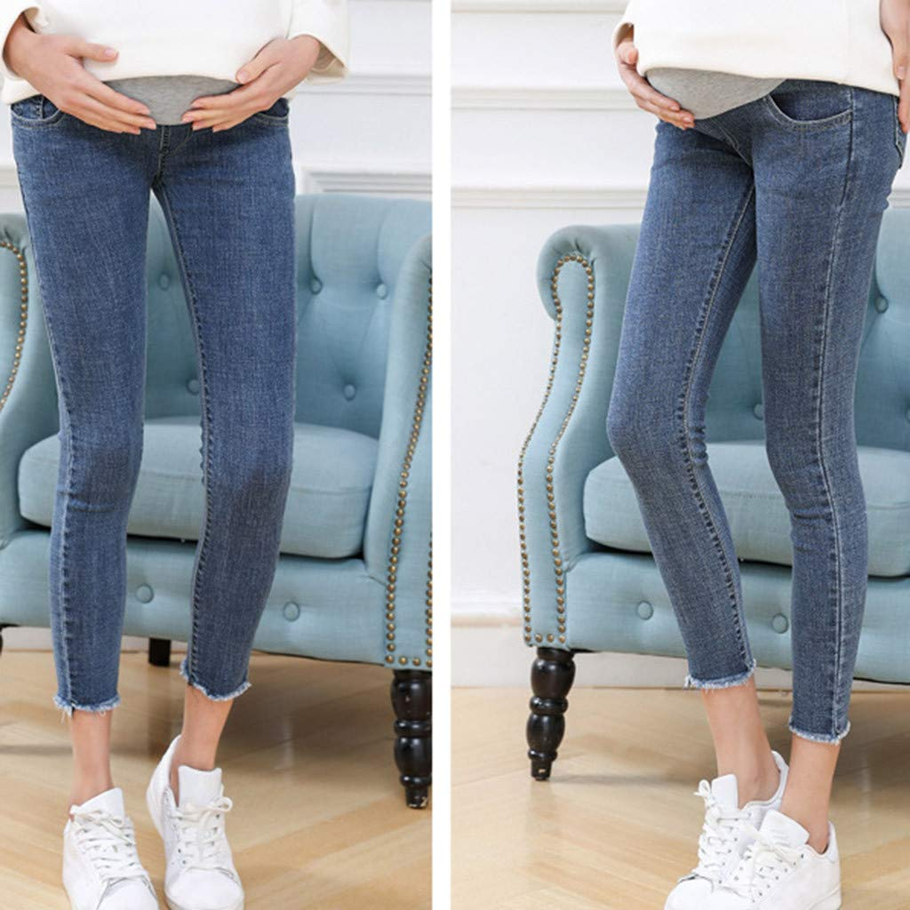 Pregnant Woman Jeans Maternity Pants Trousers Nursing Prop Belly Legging for Lady ZOMUSAR Maternity Pants