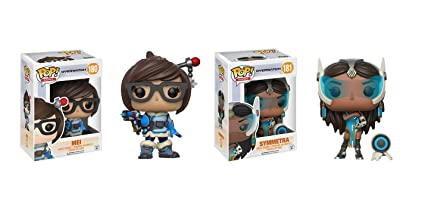 Funko POP Video Games Overwatch: Mei adn Symmetra Toy Action Figure - 2 POP BUNDLE