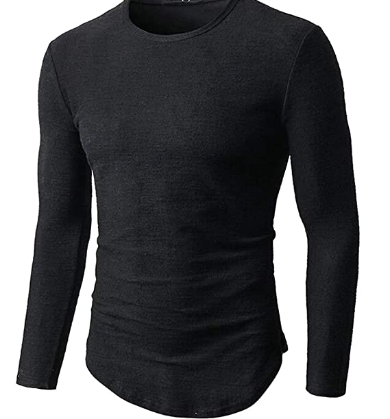 Lutratocro Men Casual Knitted Top Crew Neck Solid Pullover Jumper Sweaters