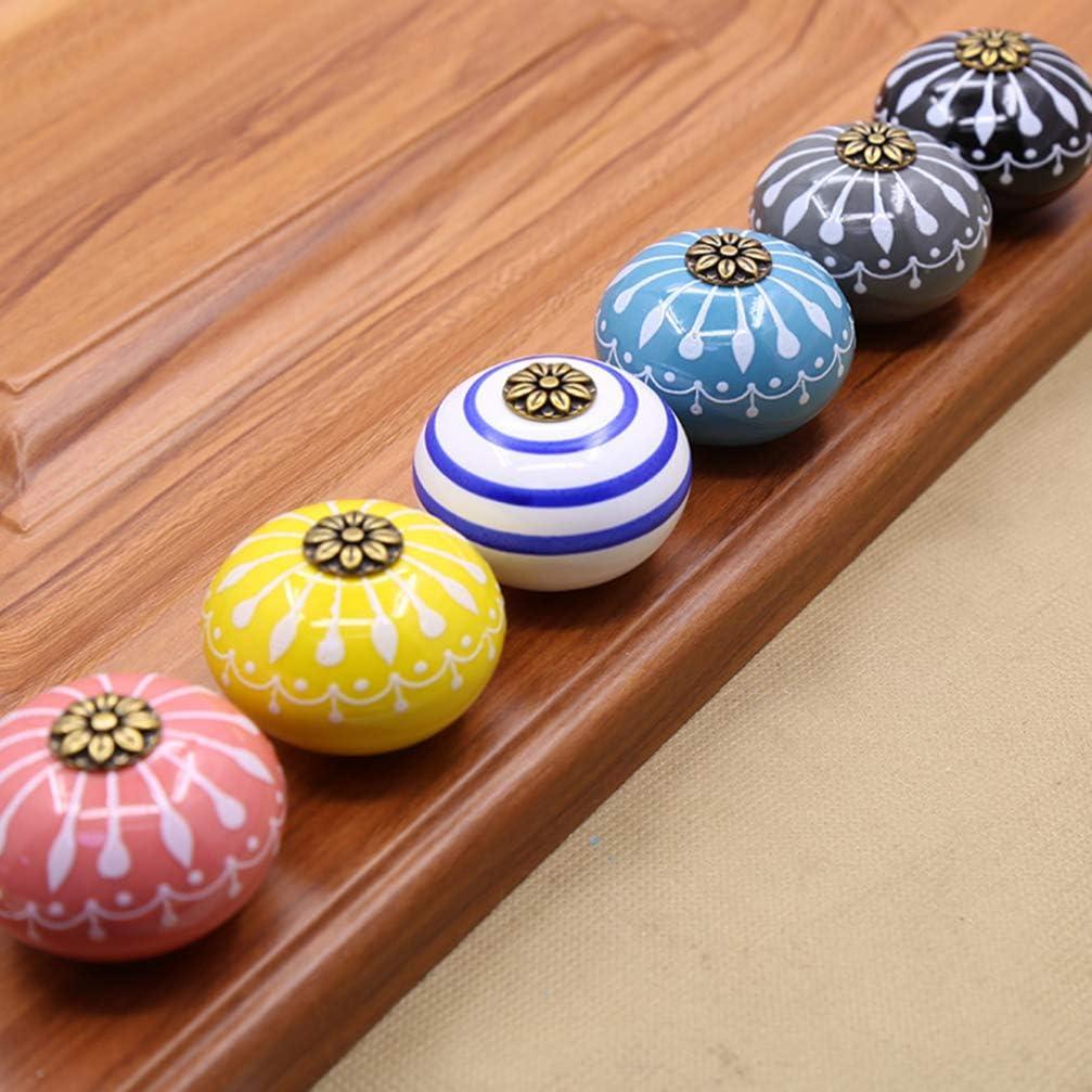 multicolore, senza nero Base DOITOOL 6 pezzi Ceramica Pomelli per Cassetti Vintage Pomoli per mobile in ceramica con Viti per maniglia del cassetto manopole per mobili,porte,armadietti,cassetti