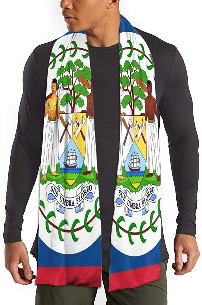 Belize Flag Unisex Cotton Like Soft Shawl Wrap Scarf Neck Wear