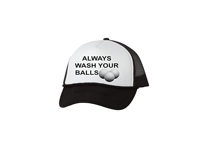 23b66604985 Rogue River Tactical Funny Golf Hat Always Wash Your Balls Trucker Baseball  Cap Retro Vintage Golfers