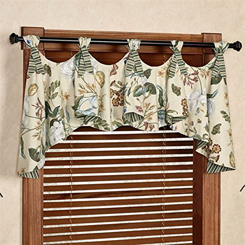 Willaimsburg Waverly Garden Images Austrian Valance 42W x 28L