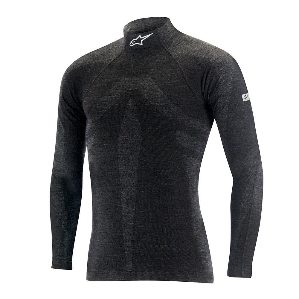 Alpinestars ZX EVO Long Sleeve Top (Black/Gray, X-Small/Small)