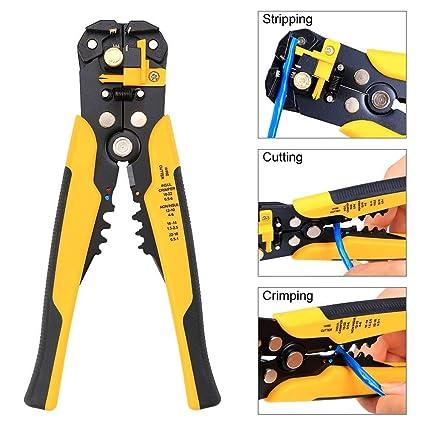 Alicates pelacables Sinzau, pinzas pelacables automáticas 5 en 1 para pelar, cortar alambres y