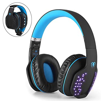 Beexcellent Auriculares Diadema Bluetooth Inalambricos, Auriculares Estéreo Inalámbrico Plegable Bluetooth 4.1 de Alta Fidelidad Reducción de Ruido ...