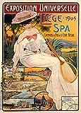 Exposition Universelle - Liege Spa 1905 Vintage Poster (artist: Toussaint) Belgium c. 1905 (12x18 Art Print, Wall Decor Travel Poster)